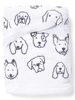 Casaba Dog Print Paw Hand Towels Set of 2 Black White Cotton