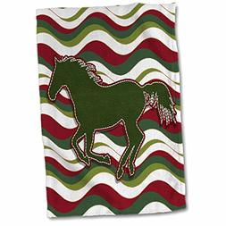 3dRose Doreen Erhardt Western - Running Horse Faux Leather G