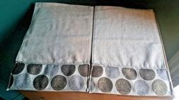 Avanti Linens Dotted Circles Set of 2 Hand Towels Tan 100% C