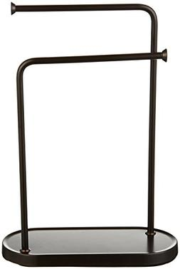 AmazonBasics Double-L Hand Towel and Accessories Stand - Bro