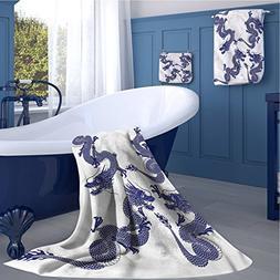 Dragon Print bathroom accessories set Indigenous Japanese Dr