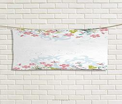 Anniutwo Dragonfly,Hand Towel,Vivid Spring Branches Bunch Bl