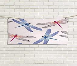 Anniutwo Dragonfly,Hand Towel,Dragonfly Forms High Detailed