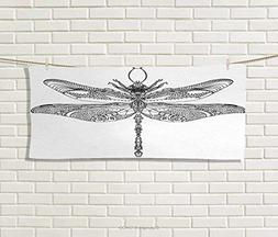 Anniutwo Dragonfly,Hand Towel,Artistic Baroque Patterned Orn