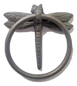 """Dragonfly Cast Iron Towel Ring 4"""" for Bath and Hand towels"""