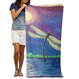 Colivy Dragonfly Moon Personalized 100% Polyester Soft Beach