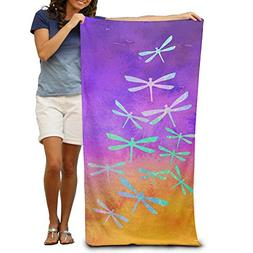 Dragonfly Pattern 100% Polyester Pool Towel Chair  Thick Sof