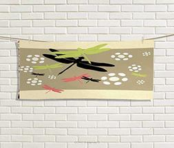 Anniutwo Dragonfly,Sports Ttowel,Cute Floral Pattern Abstrac