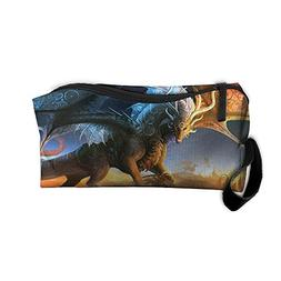 Dragons Fantasy Travel Clutch Handbag For Women Cosmetic Cas