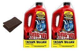 Drano Max Gel Clog Remover 80 Fluid Ounces Twin Value Pack