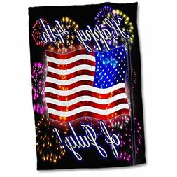 3dRose 4th of July American Flag with Fireworks Digital Art