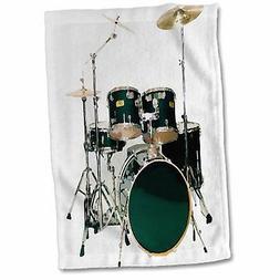 3dRose Drums Hand Towel