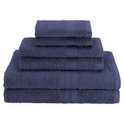 Superior Eco-Friendly 100% Ringspun Cotton, 6 Piece Towel Se