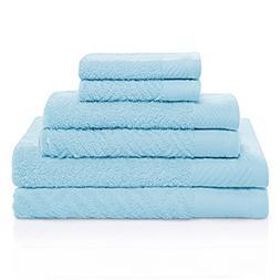 Superior 100% Egyptian Cotton 6-Piece Towel Set, Basket Weav