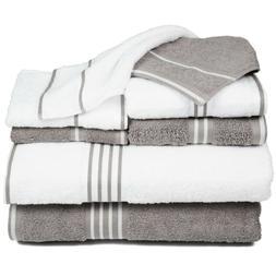 Lavish Home 8 Piece Egyptian Cotton Towel Set Hand Bath Fing