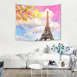 HVEST Paris Tapestry Eiffel Tower Tapestry Wall Hanging Roma