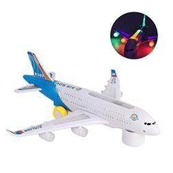 AUKUK Electric Airplane Kids Toy Toy Plane Airbus with Flash