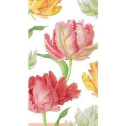 Entertaining with Caspari Tulip Dance Guest Towels, Pack of