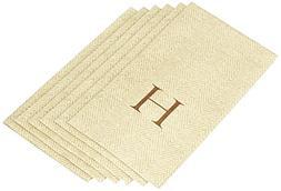 Entertaining with Caspari Jute Herringbone Paper Linen Guest