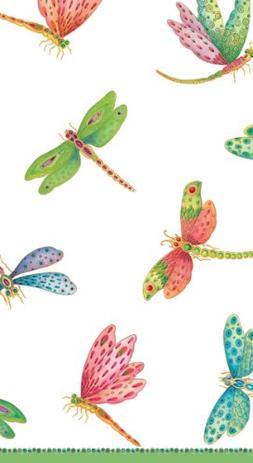Entertaining with Caspari Dragonflies Paper Guest Towels, Pa
