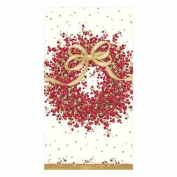 Entertaining with Caspari Pepper Berry Guest Towels, Red, 15