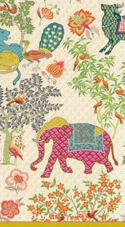 Caspari Entertaining 30-Pack Le Jardin De Mysore Guest Towel