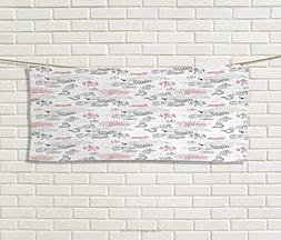 Ethnic,Hand Towel,Great Wall China Folk Motif Authentic Drag