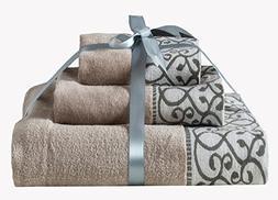 XFXHome Bath Towel Set 100% Quality Cotton, Elegant Soft and