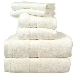 EuroPlush Hotel Collection Ring Spun Cotton Towels, Bone Whi