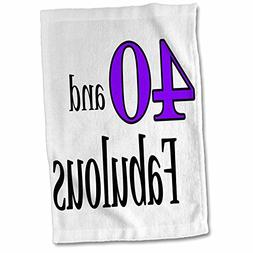 3dRose EvaDane - Funny Quotes - 40 and fabulous. Purple. - 1