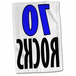 3dRose EvaDane - Funny Quotes - 70 Rocks. Blue. - 15x22 Hand