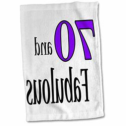 3dRose EvaDane - Funny Quotes - 70 and fabulous. Purple. - 1
