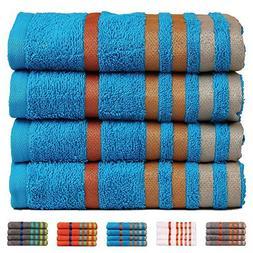 CASA COPENHAGEN Exotic Cotton 475 GSM 4 Pack Designer Hand T