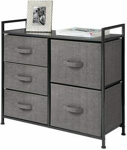 mDesign Extra Wide Dresser Storage Tower - Sturdy Steel Fram