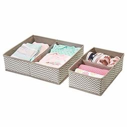 mDesign Fabric Baby Nursery Organizer for Clothing, Towels,