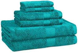 fade resistant 6 piece cotton towel set