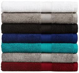 AmazonBasics Fade-Resistant Cotton 6-Piece Towel Set Pick of