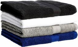 Fade-Resistant Cotton 6-Piece Towel Set, Multiple color
