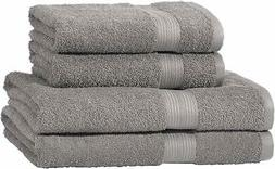 AmazonBasics Fade Resistant Towel Set, 2 Bath and 2 Hand - G