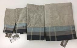 Croscill Fairfax Bath Towel, 27 by 52-Inch, Slate