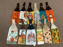 FALL/THANKSGIVING THEMED CROCHET HANGING KITCHEN TOWELS - NE