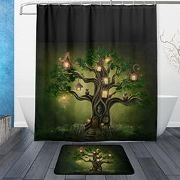 Fantasy Tree House in Forest with Eagle Owls Waterproof Poly