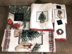 Avanti Linens Farmhouse Holiday Fingertip, Bath,Hand Towels,