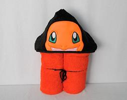 Fire Dragon Evolving Creature Hooded Bath Towel - Baby, Chil