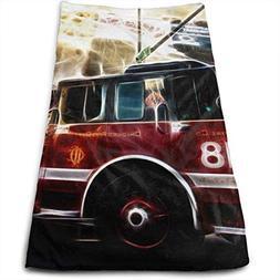 SINOVAL Fire Truck Wallpaper Interest Quick-Dry Popular Hand