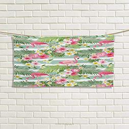 Chaneyhouse Flamingo,Hand Towel,Flamingos with Exotic Hawaii