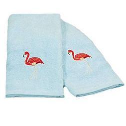 The Lakeside Collection 2-Pc. Flamingo Towel Set