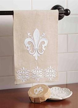 Mud Pie Fleur De Lis Soap and Towel Set