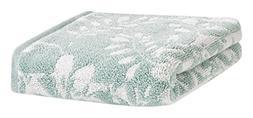 "LOFT by Loftex 3328 Floral Block Jacquard Hand Towel, 16"" x"