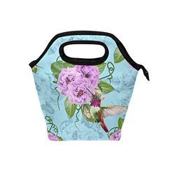 2534ee76a348 Naanle Floral Hummingbird Insulated Zipp...